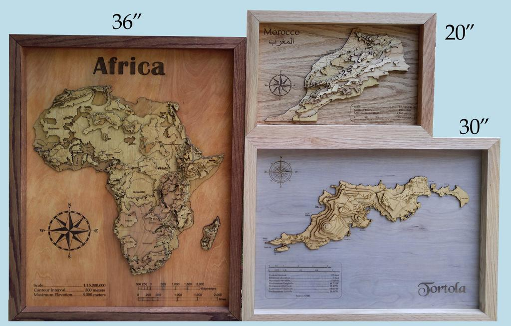 We Used A Red Oak Baers From Home Depot For The Frame Voila You Now Have Your Own 3d Topographic Wood Map